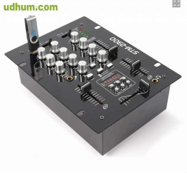 Mesa de mezclas 2 canales for Mesa de mezclas fonestar