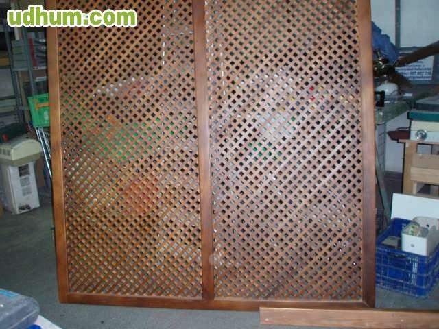 Biombos celosia de madera para separar for Celosia de madera para jardin