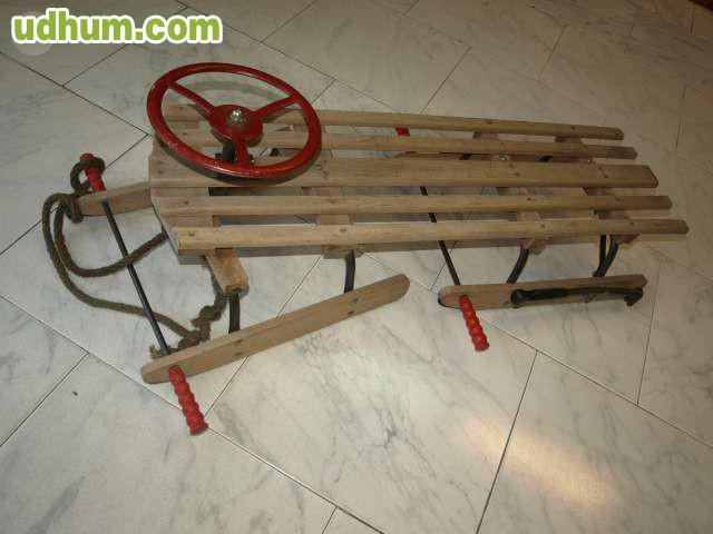 Trineo antiguo 4 for Trineo madera decoracion