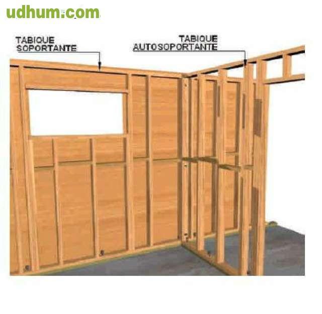 Tabiques de madera pared top pared with tabiques de madera pared interesting estructura casa - Tabiques de madera ...