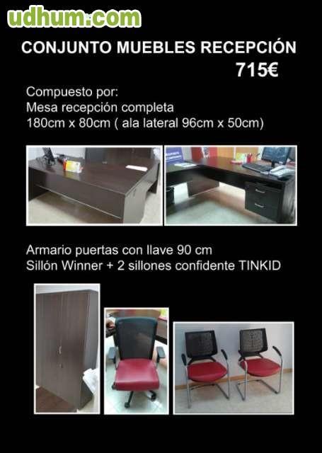 Conjunto muebles recepci n oficina for Conjunto muebles oficina