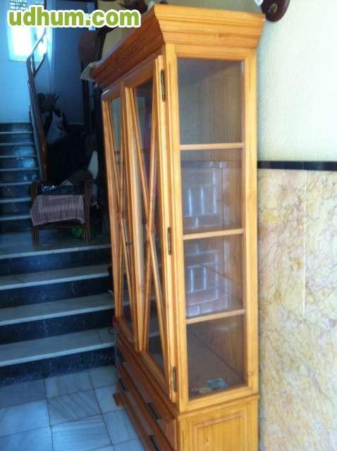 Armario vitrina de pino - Armario rustico segunda mano ...