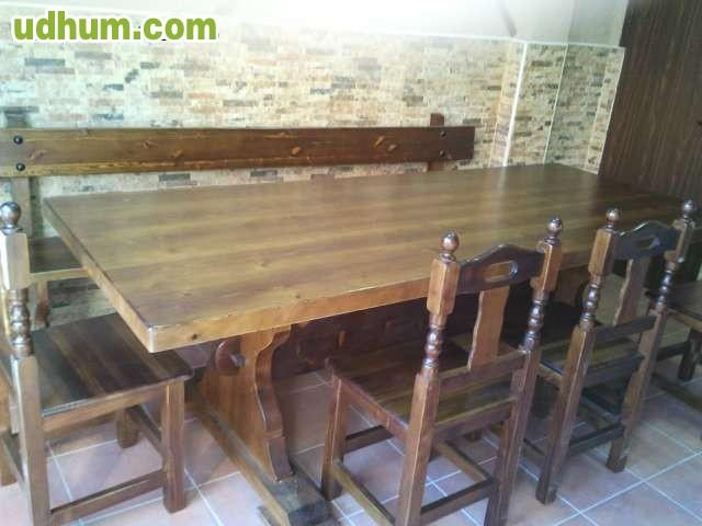 Muebles rusticos mesas para txoko for Muebles para bodegas rusticas