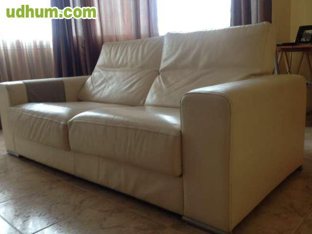 Sof en piel color crema - Marcas de sofas de piel ...