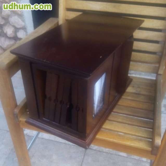 Mueble portafotos de madera artisan for Mueble de madera
