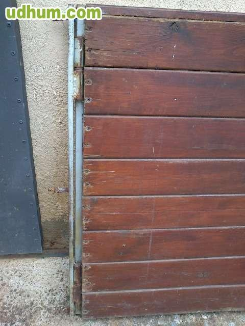 2 porticones de madera con bisagras - Bisagras para madera ...