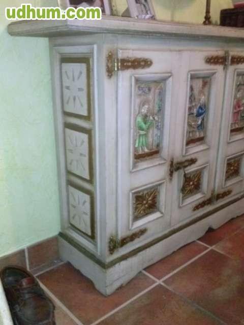 Loja Artesanato Joinville ~ APARADOR ANTIGUO TALLADO A MANO