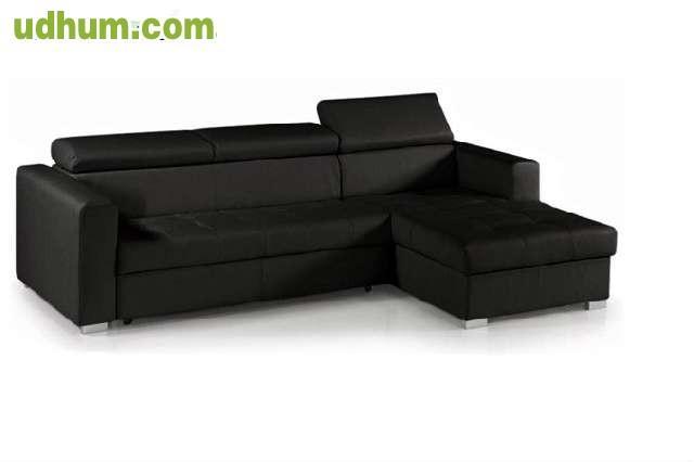 Sof cheslong l cama cuero 1 calidad for Sofa cama cheslong