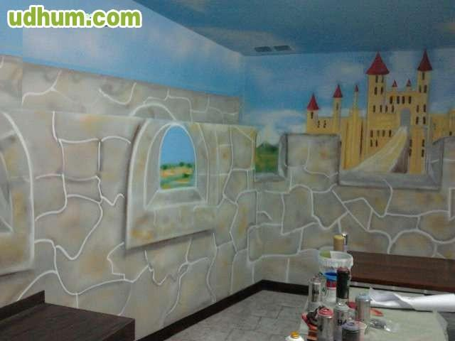 Pintores alta decoraci n murales dibujos - Pintores en bilbao ...