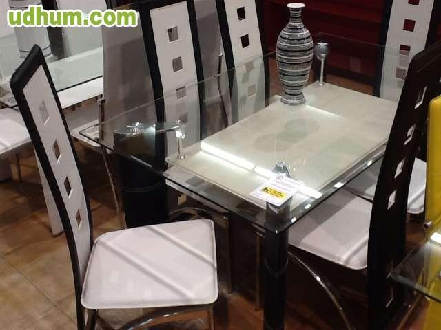 Varias mesas de cristal 6 sillas de saln - Rastro remar zaragoza ...