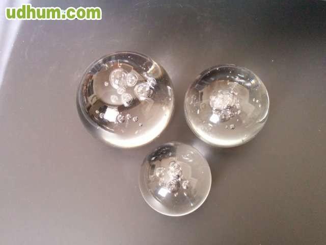 Bolas de cristal con burbujas for Bolas de cristal decorativas