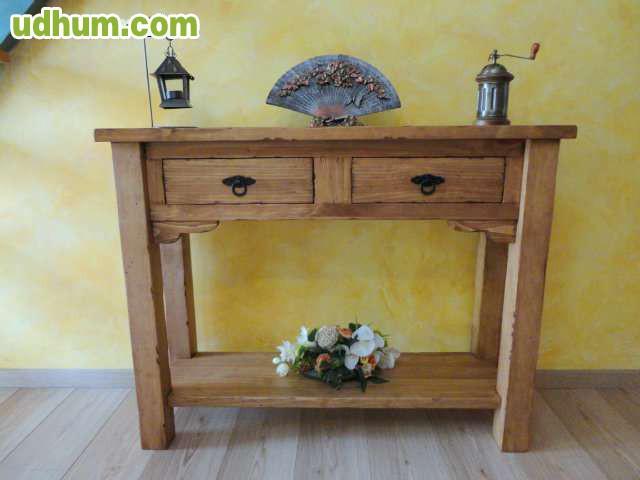 Mueble rustico auxiliar artesanal for Muebles rusticos toledo