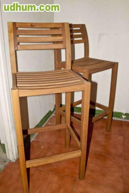Taburetes de madera jardin e interior for Vendo caseta madera jardin