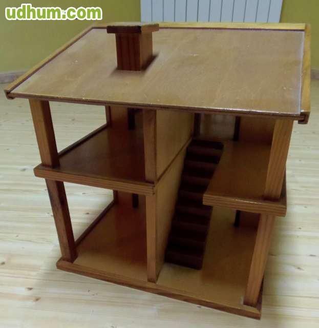 Casita de mu ecas artesana de madera for Vendo casita de madera para jardin