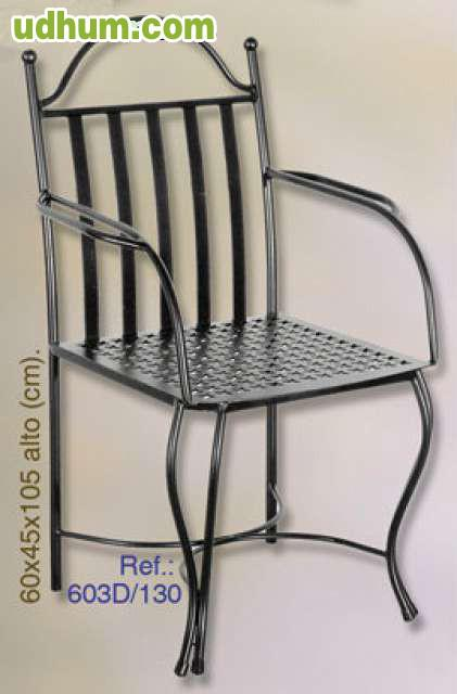 Sillas de forja env os gratis for Modelos de sillas de hierro