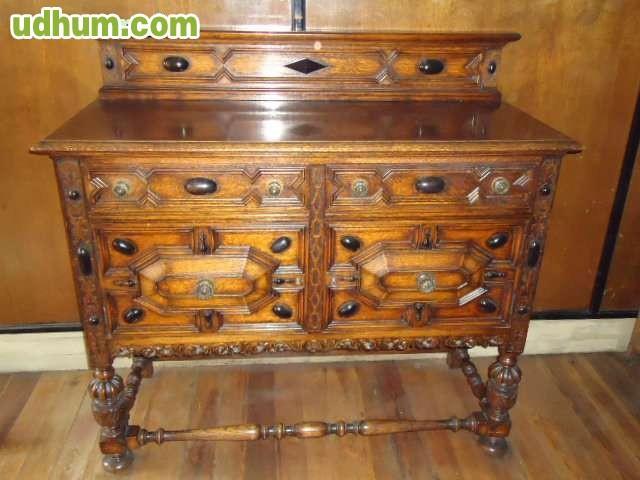 Lote muebles antiguos de madera maciza - Muebles antiguos de madera ...
