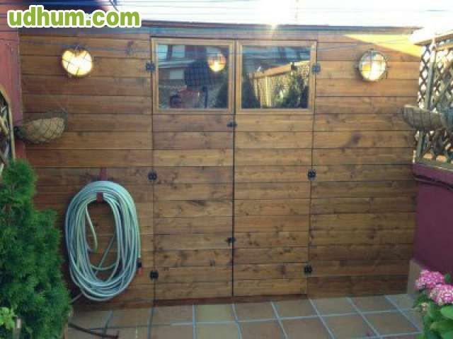 Casetas de madera para jardin for Vendo caseta madera jardin