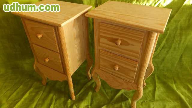 Pareja de mesillas madera nuevas - Mesillas de madera ...
