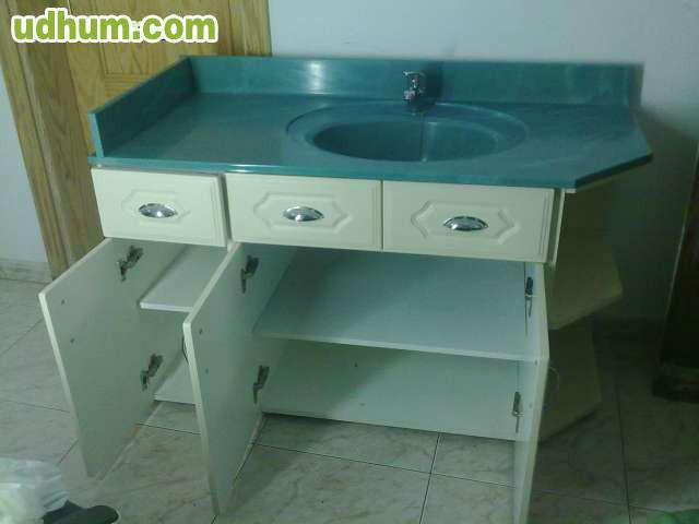 ) ALTO 90 ANCHO 60 LARGO 125 mueble blanco con lavabo ( ROCA ) blanco