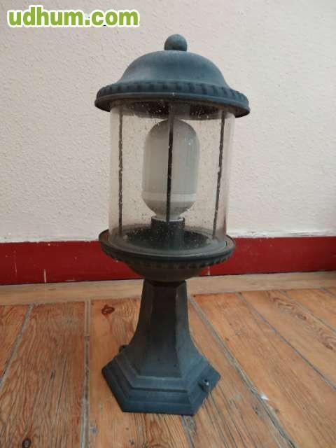 Lamparas rusticas para exterior metal y for Lamparas de exterior