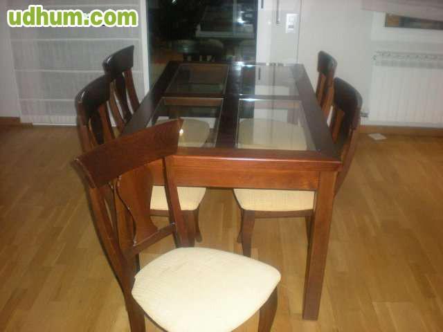 Conjunto mueble sal n mesas sillas for Conjunto muebles salon