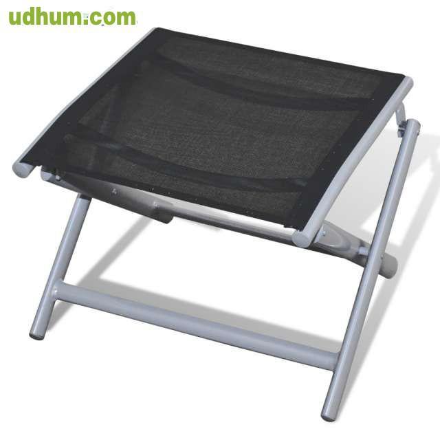 Set de muebles de jardin de aluminio neg for Muebles de aluminio
