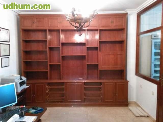 Muebles de despacho de madera for Muebles de rinconera