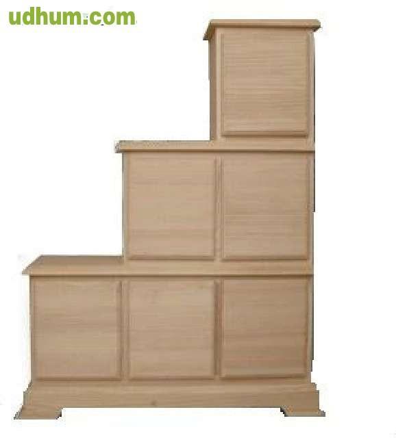 Mueble escalera 6 cajones - Muebles en crudo sevilla ...