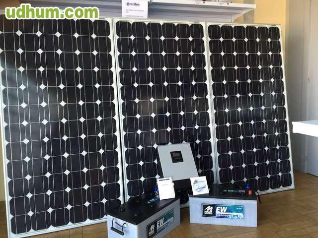 Kit inversor bater as placas solares for Baterias placas solares