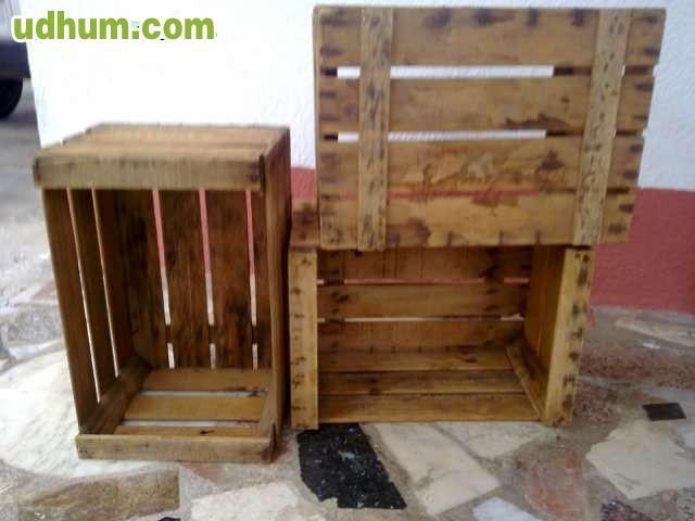 Cajas de madera antiguas de fruta 4 Cajas de fruta de madera