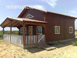 Venta de casas de madera y montaje - Montaje casa de madera ...