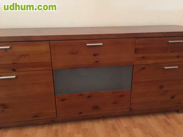 Mueble madera maciza 5 for Muebles salon madera maciza