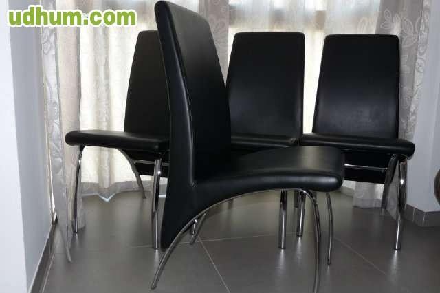 Vendo 4 sillas de sal n estilo moderno for Sillas estilo moderno