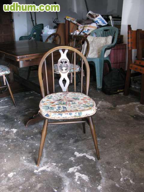 Conjunto de muebles importados de Holanda, de roble, en perfecto