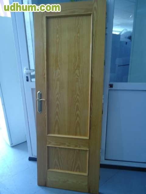 Puertas de madera interior for Puertas acristaladas interior
