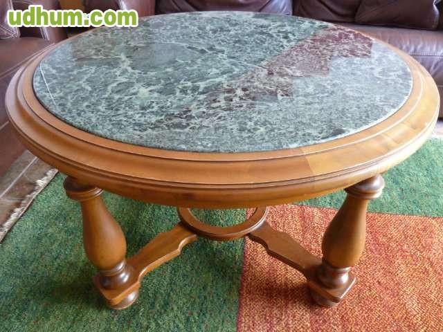 Mesa antigua de madera de piedra verde 1 for Mesas antiguas de madera