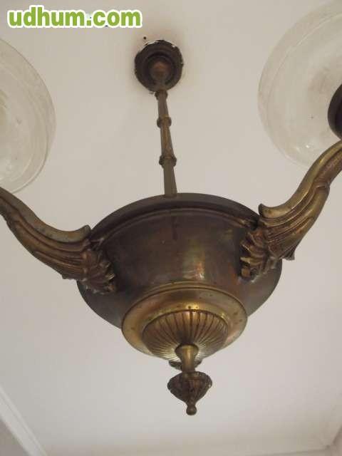 Lampara de bronce antigua 4 for Fisura lamparas