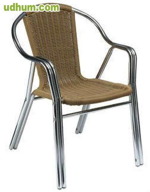Oferta hosteleria sillas aluminio rattan for Terraza rattan oferta