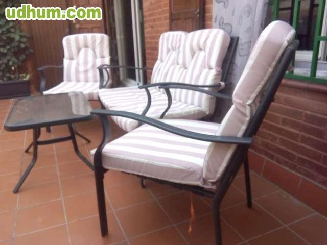 Conjunto sofa sillones de jardin for Sillones de jardin