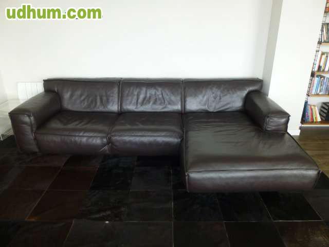Sof chaise longue piel furninova - Marcas de sofas de piel ...