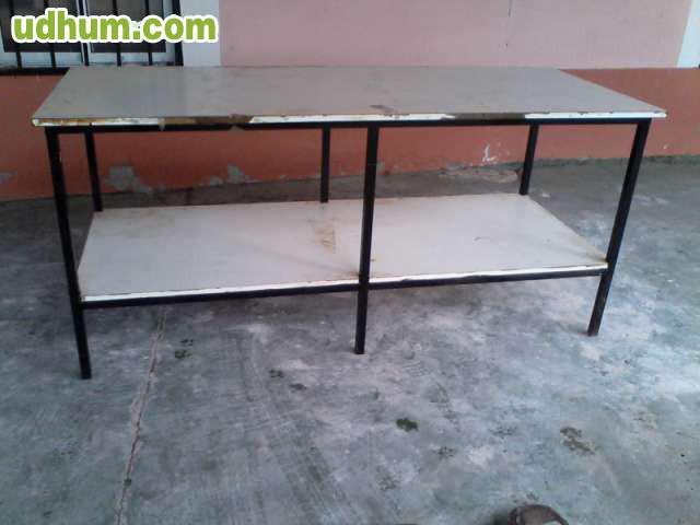 Mesa de hierro y madera 1 - Tableros de madera medidas y precios ...