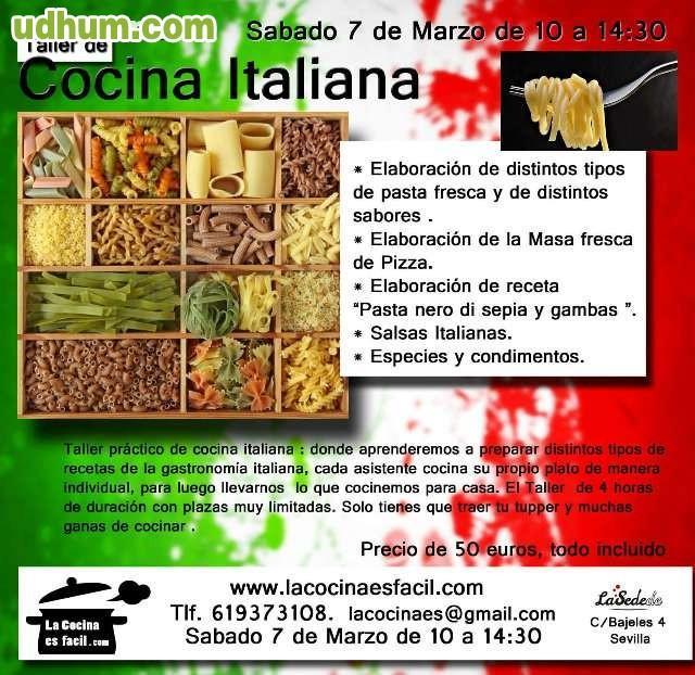 Curso intensivo de cocina italiana for Clases cocina italiana