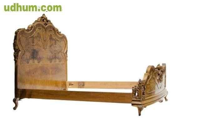 Cama antigua de madera maciza - Camas de madera antiguas ...