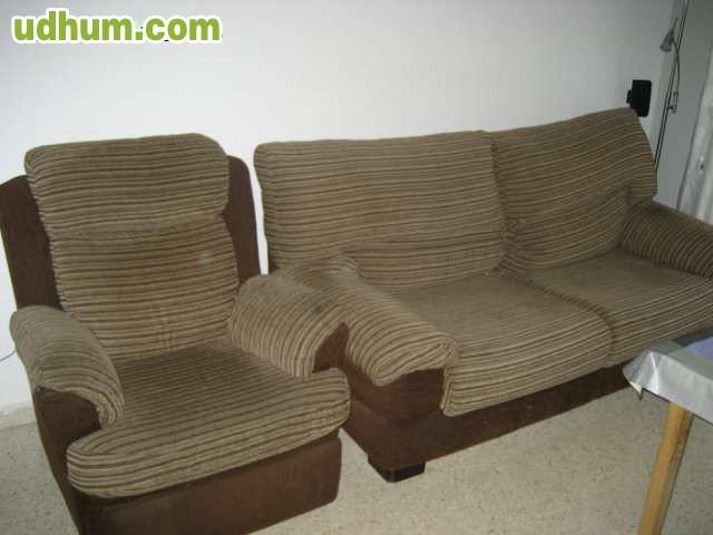 Sofa De Tres Plazas Y Sillon Relax Autom