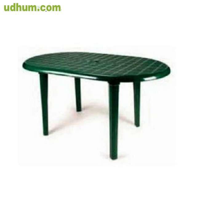 Mesa de jardin de color verde - Mesa jardin plastico verde ...