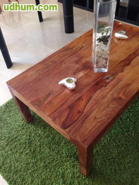 Vendo mesa de centro de madera for Vendo bar de madera