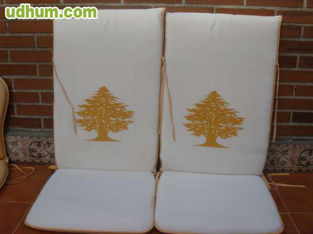 Colchonetas sillas jard n - Colchonetas para tumbonas jardin ...