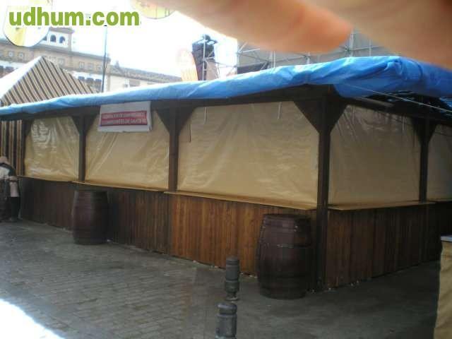 Caseta de madera para fiestas for Alquiler chiringuito madera