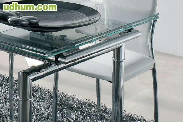 Mesa de cristal comedor for Mesa cristal barata