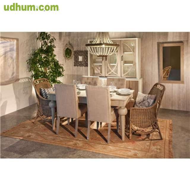 Mesa comedor alto dise o madera cajones for Comedor alto